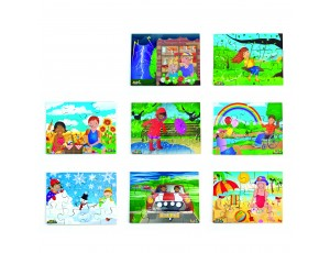 All Kinds of Weather Set of 8 Jigsaws