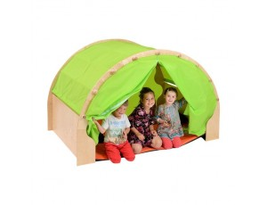 Play Pod & Canopy & 2 Sets of Curtains - Lime Green