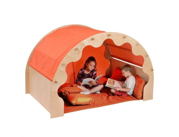 Play Pod & Canopy & 2 Sets of Curtains, 6 Scatter Cushions & Large Mat