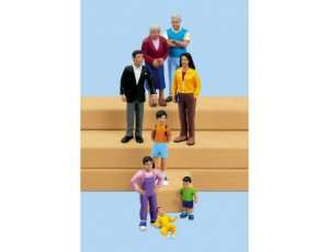 Block People - Hispanic Family