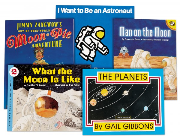 Space Theme Book Library