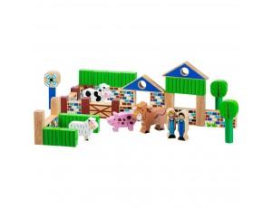 Farm - 40 building blocks + bag 10M+