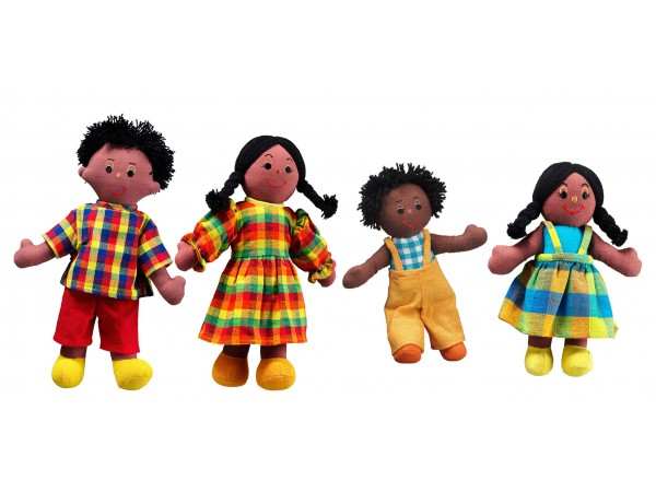 Fairtrade Doll Family (Black Skin, Black Hair)