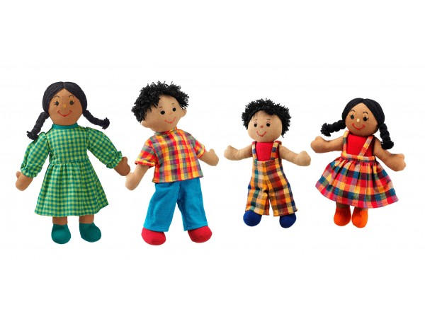 Fairtrade Doll Family (Brown Skin, Dark Hair)