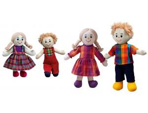 Fairtrade Doll Family (White Skin, Blonde Hair)