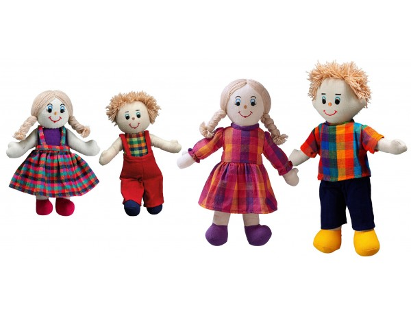 Fairtrade Doll Family (White Skin, Blonde Hair)