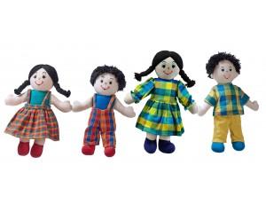 Fairtrade Doll Family (White Skin, Dark Hair)