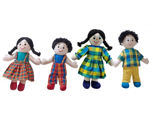Fairtrade Doll Family (White Skin, Dark Hair)