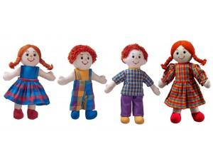 Fairtrade Doll Family (White Skin, Red Hair)