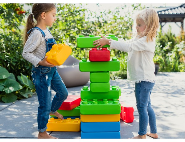 Giant Rainbow Building Blocks (33 piece)