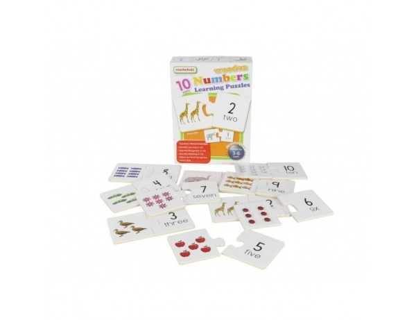 Wooden Numbers Learning Puzzles