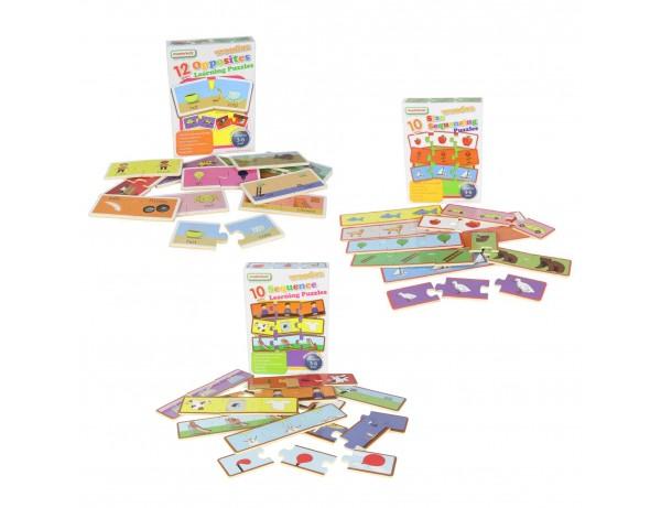 Wooden Learning Puzzles - Multibuy Set