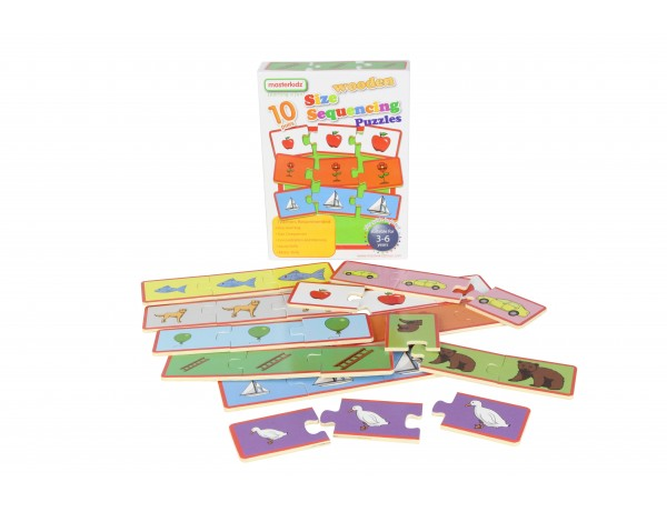 Wooden Size Sequencing Puzzles