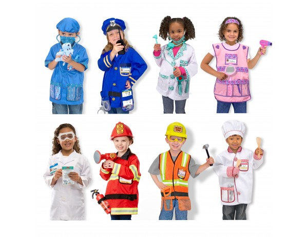People in Our Community RolePlay Costumes (8 Outfits) (3-5 Years)