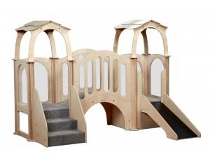 Hide 'n' Slide Kinder Gym (with roof)