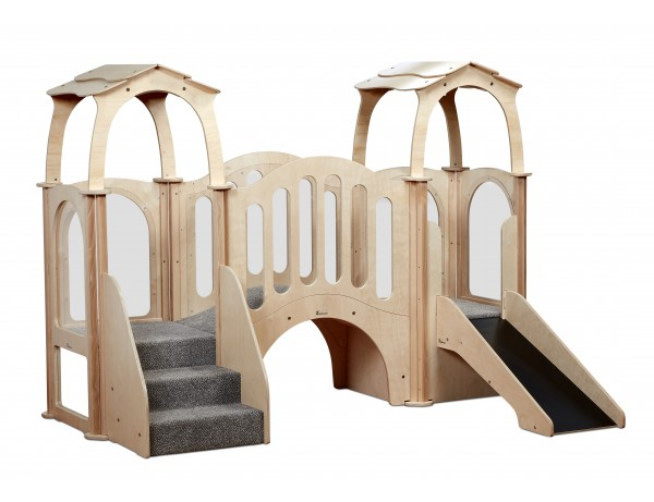 Hide 'n' Slide Kinder Gym (with roof)