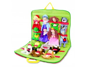 Puppet Case with 14 puppets Set 1