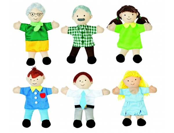 Family Hand Puppets - Set of 6