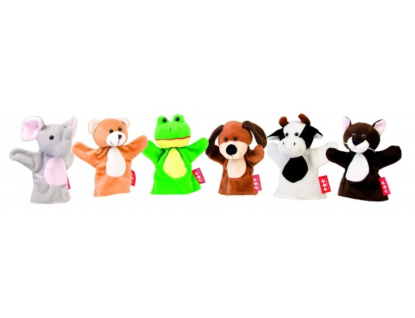 Animal Hand Puppets Set of 6