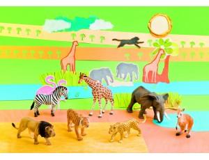 Exotic animals (7 pcs.)