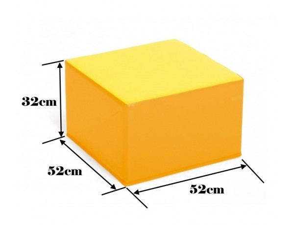 TWO TONE YELLOW POOF - 32 CM