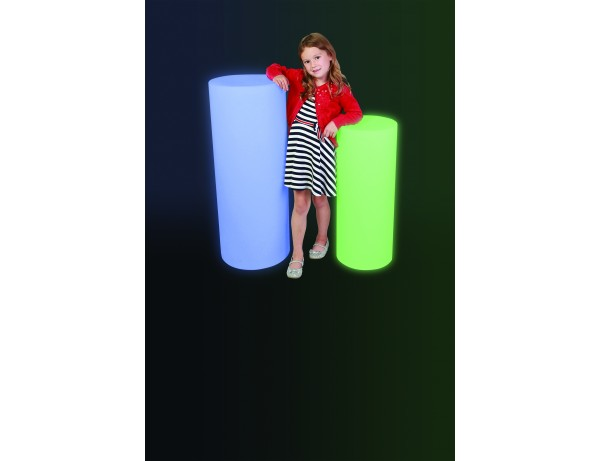 Colour Changing Cylinder 38x96cm