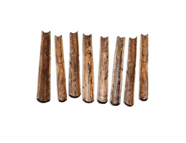 Wooden Water Channelling (8 Pieces)