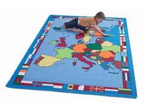 Gigantic European Map Rug