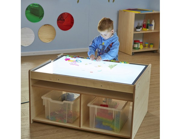 Lightbox Table with Storage