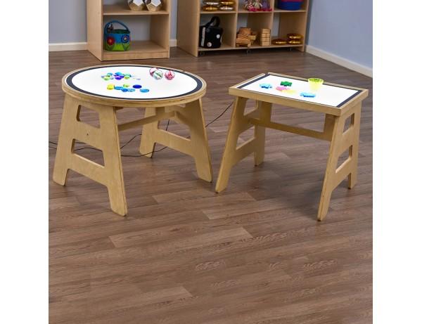 Table and Light Panel Set Circle