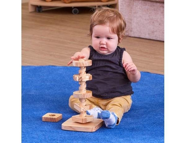 Wooden Twist & Turn Tower