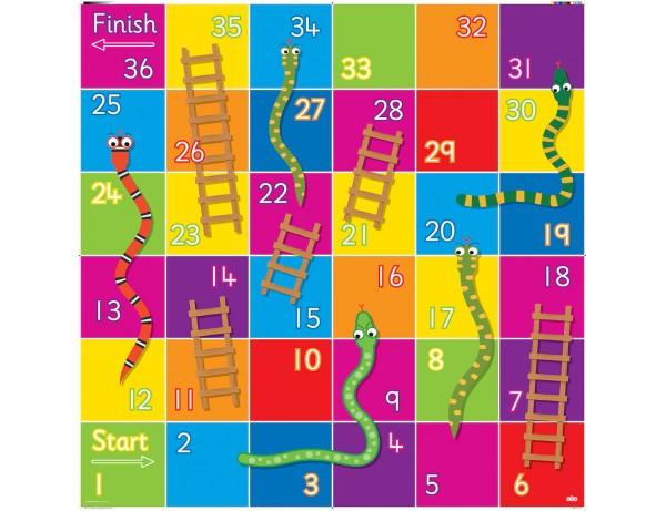 Bee-Bot® Snakes and Ladders Mat