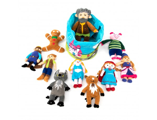 Fairytale Characters in a Soft Basket