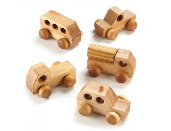 Mini Wooden Vehicles 5pk