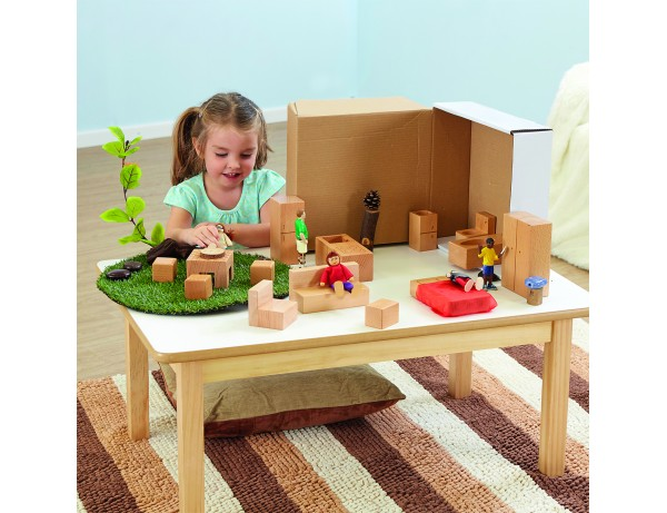Wooden toddler Dolls House Accessories