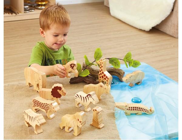Wooden Wild Animals 12pk