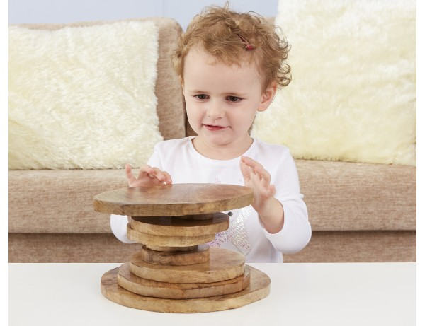 Natural Wooden Stacking Discs