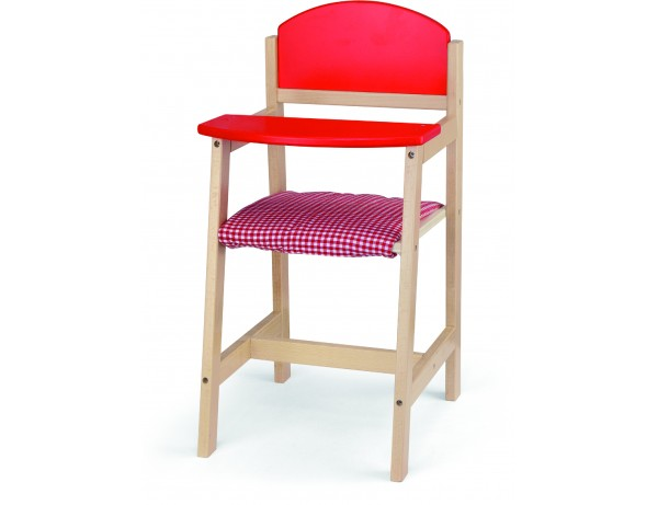 Wooden Doll High Chair (18m+)