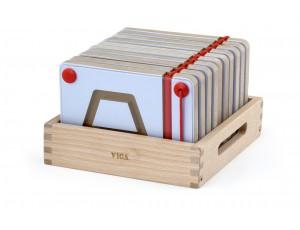 Magnetic Writing Board Geometric Shape 10pcs Set (3y+)