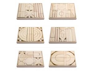 Wooden Unit Blocks 6 Trays Set #2 (18m - 5y)
