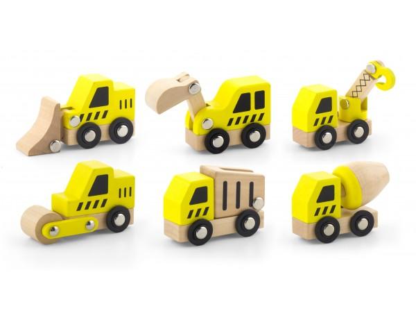 Construction Vehicles  6pcs Set (18m+)