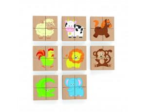 Magnetic Puzzle Block  32pcs Set -Animals (18m+)