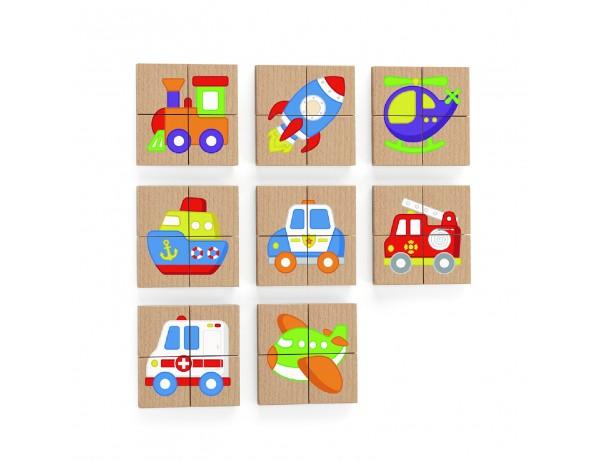 Magnetic Puzzle Block  32pcs Set -Transportation (18m+)