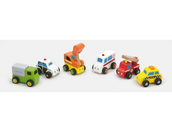 Mini Vehicles 6pcs Set (18m+)