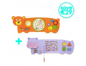Wall Toy-Combo - Hippo + Bear Set (18m+) (Save €29)