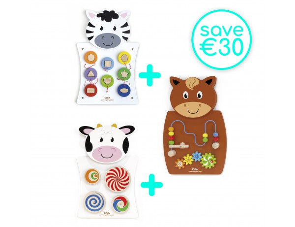 Wall Toy- Set of 3 (18m+) (Save €30)