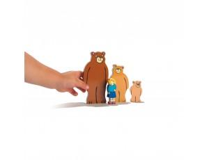 Goldilocks Wooden Characters