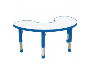 Halfmoon Laminate Top - Blue Rim