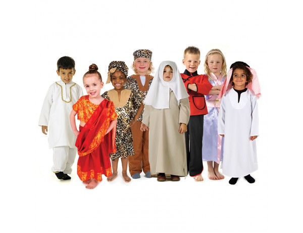 Multicultural RolePlay Costumes (8 Outfits)  (3-5 Years)