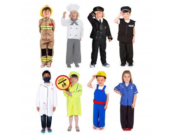 People in Our Community RolePlay Costumes (8 Outfits) (5-7 Years)